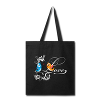 Birds in Love - Tote - black