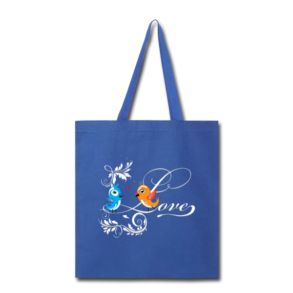 Birds in Love - Tote - royal blue