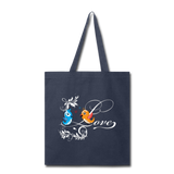Birds in Love - Tote - navy