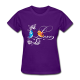 Birds in Love - Women's - purple