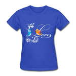 Birds in Love - Women's - royal blue