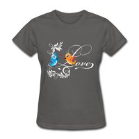 Birds in Love - Women's - charcoal