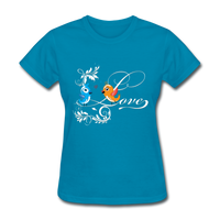 Birds in Love - Women's - turquoise