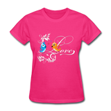 Birds in Love - Women's - fuchsia