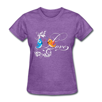 Birds in Love - Women's - purple heather
