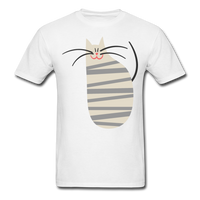 Happy Cat with Stripes - Unisex - white
