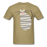 Happy Cat with Stripes - Unisex - khaki