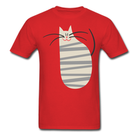 Happy Cat with Stripes - Unisex - red