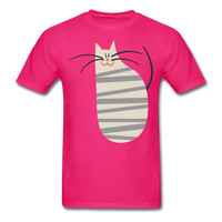 Happy Cat with Stripes - Unisex - fuchsia