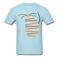 Happy Cat with Stripes - Unisex - powder blue