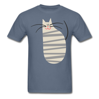 Happy Cat with Stripes - Unisex - denim