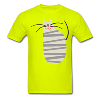 Happy Cat with Stripes - Unisex - safety green
