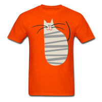 Happy Cat with Stripes - Unisex - orange