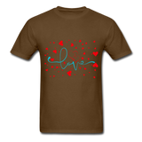 Love and Hearts - Unisex2 - brown