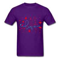 Love and Hearts - Unisex2 - purple