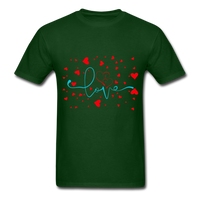Love and Hearts - Unisex2 - forest green