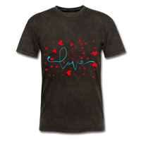 Love and Hearts - Unisex2 - mineral black
