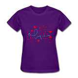 Love with Hearts - Women's - purple