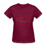 Love with Hearts - Women's - burgundy