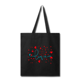 Love and Hearts - Tote - black