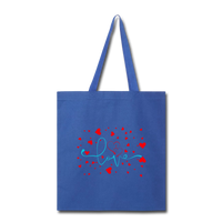 Love and Hearts - Tote - royal blue
