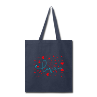Love and Hearts - Tote - navy