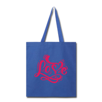 Pink Love - Tote - royal blue