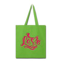 Pink Love - Tote - lime green