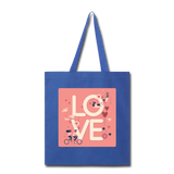 Love in the Air - Tote2 - royal blue