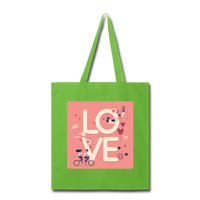 Love in the Air - Tote2 - lime green