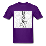 Lady and Pit Bull - Women's - purple