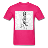 Lady and Pit Bull - Women's - fuchsia
