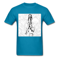 Lady and Pit Bull - Women's - turquoise
