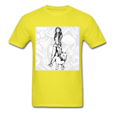 Lady and Pit Bull - Women's - yellow