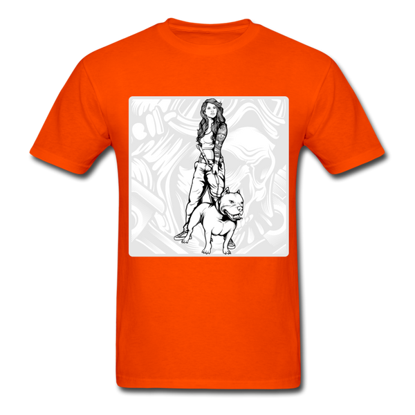 Lady and Pit Bull - Women's - orange