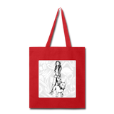 Lady and Pit Bull - Tote - red