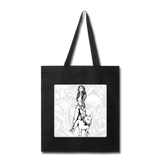 Lady and Pit Bull - Tote - black