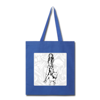 Lady and Pit Bull - Tote - royal blue