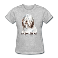 Bearded Collie - Women's - heather gray