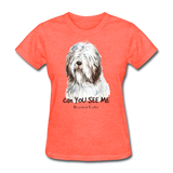 Bearded Collie - Women's - heather coral