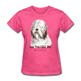 Bearded Collie - Women's - heather pink