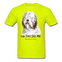 Bearded Collie - Unisex - safety green