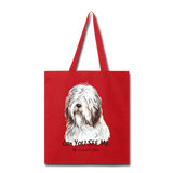 Bearded Collie - Tote - red