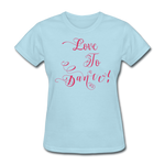 Love to Dance! Fuschia Swirl - Women's - powder blue