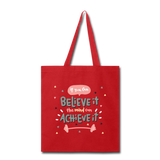 If YOu Can Believe It - Tote3 - red