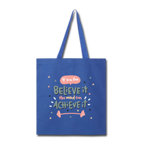 If YOu Can Believe It - Tote3 - royal blue