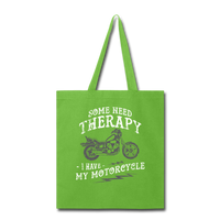 Have My Motorcycle - Tote - lime green