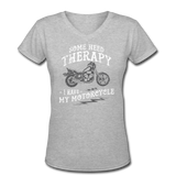 Have My Motorcycle - V-Neck Women's - gray