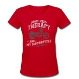 Have My Motorcycle - V-Neck Women's - red