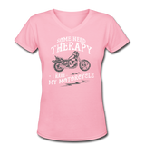 Have My Motorcycle - V-Neck Women's - pink